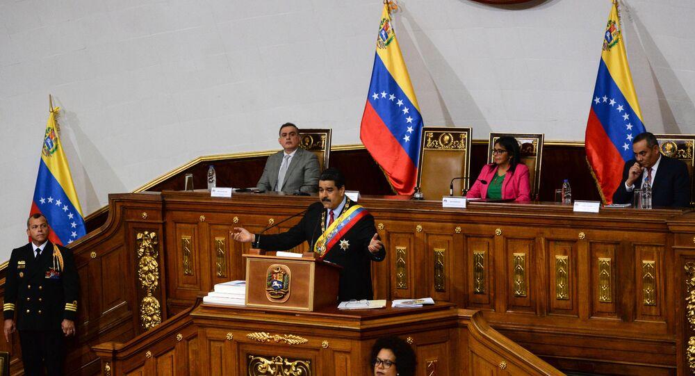 Nicolás Maduro, presidente de Venezuela, en la Asamblea Constituyente (imagen referencial)