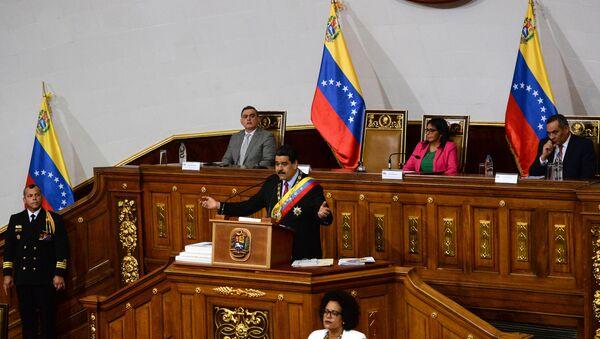 Nicolás Maduro, presidente de Venezuela, en la Asamblea Constituyente (imagen referencial) - Sputnik Mundo