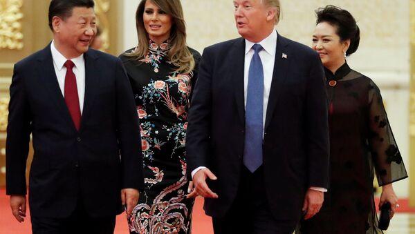 El presidente de China,  Xi Jinping, y el presidente de EEUU, Donald Trump - Sputnik Mundo
