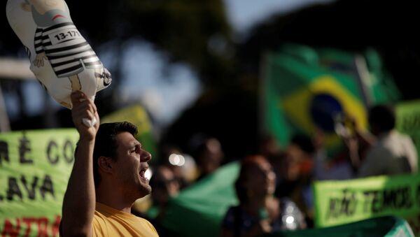 Protestas contra el expresidente brasileño Luiz Inácio Lula da Silva - Sputnik Mundo