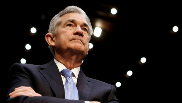 Jerome Powell, presidente de la Reserva Federal (archivo) - Sputnik Mundo