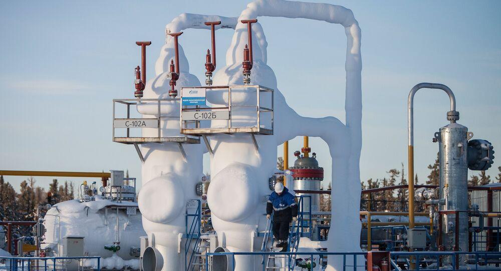 Un pozo de gas de la compañía Gazprom