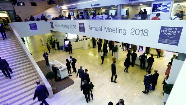 La 48 Reunión Anual del Foro Económico Mundial celebrada en la ciudad suiza de Davos - Sputnik Mundo