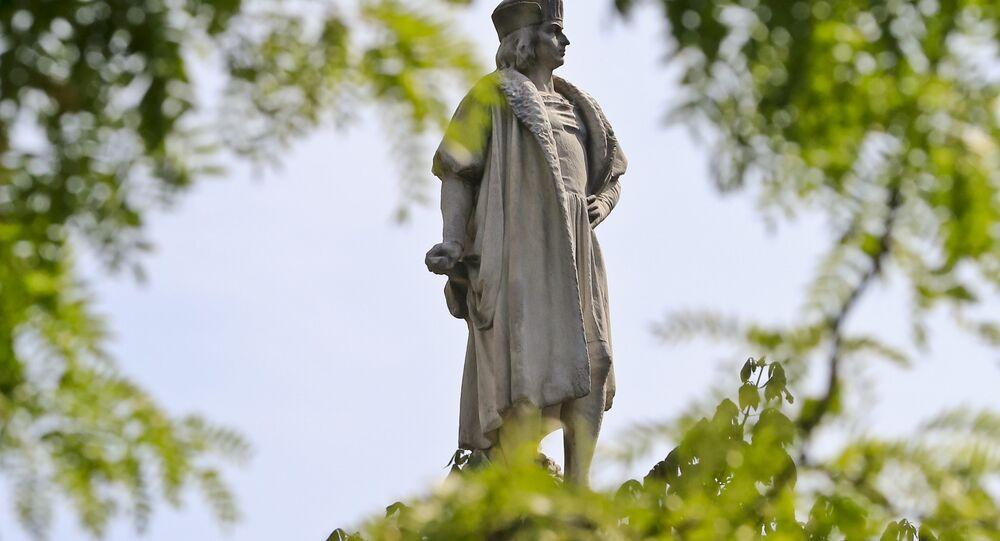 Estatua de Cristobal Colón en Nueva York, Estados Unidos