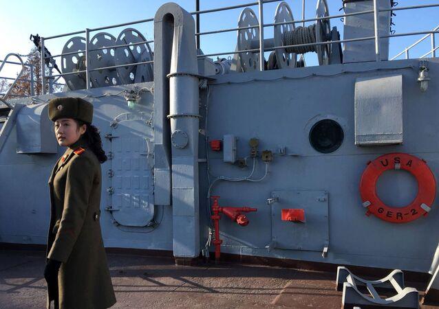 El único barco espía de EEUU capaz de 'colarse' en la capital de Corea del Norte