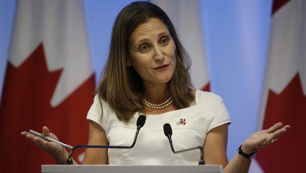 Chrystia Freeland, la ministra de Relaciones Exteriores de Canadá - Sputnik Mundo