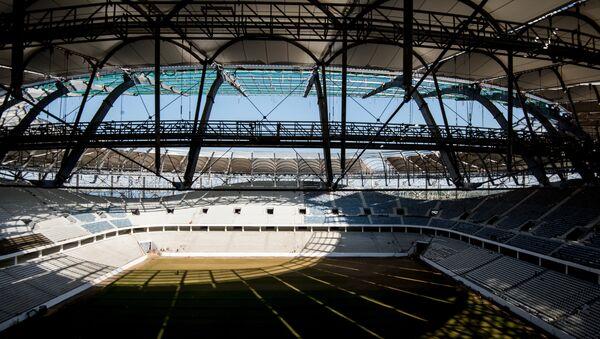 La construcción del estadio Volgograd Arena - Sputnik Mundo
