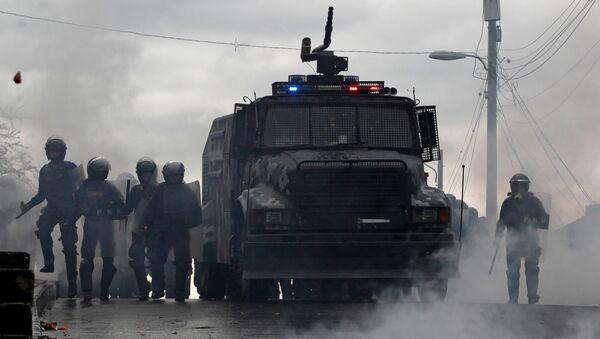 Policía hondureña - Sputnik Mundo