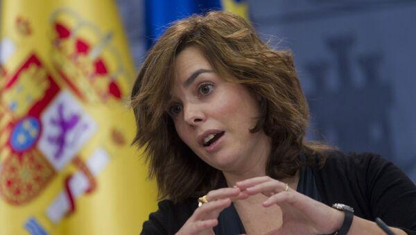 Government spokeswoman and deputy premier Soraya Saenz de Santamaria - Sputnik Mundo