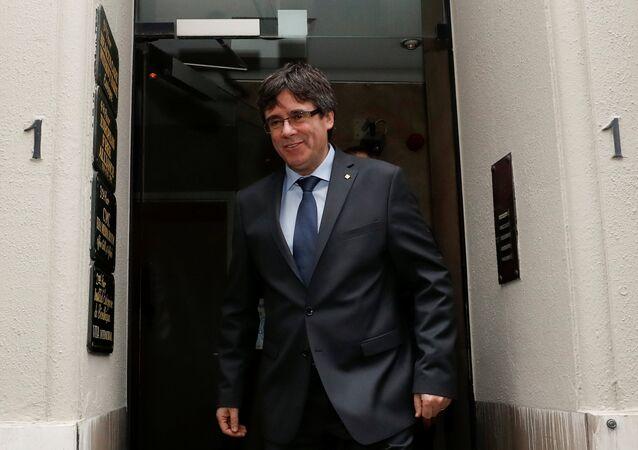 Carles Puigdemont, el líder independentista y el expresidente del Gobierno de Cataluña