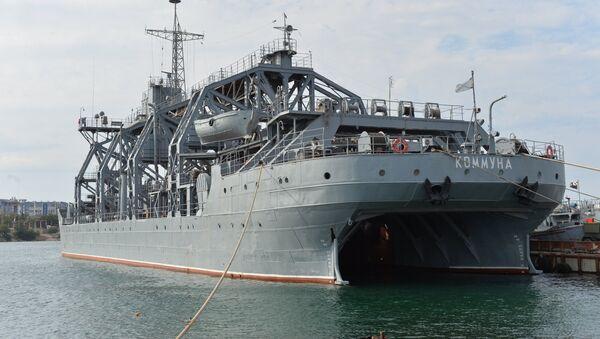 El buque de salvamento ruso Kommuna de la Flota del mar Negro de Rusia - Sputnik Mundo