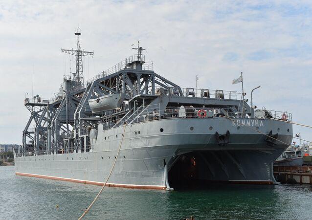 El buque de salvamento ruso Kommuna de la Flota del mar Negro de Rusia
