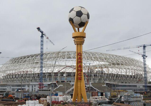 La construcción del estadio Mordovia Arena