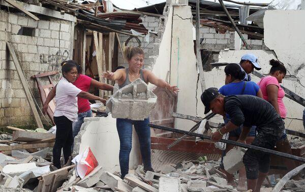 Las consecuencias del ataque contra una comisaría de policía en Ecuador - Sputnik Mundo