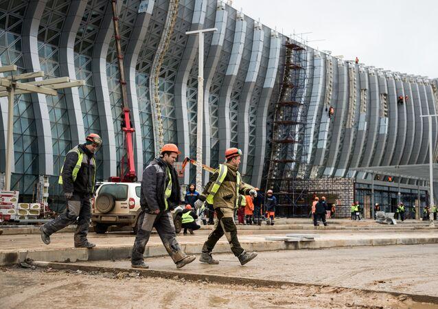 La construcción es una de las industrias atractivas para los migrantes laborales ucranianos en Rusia (imagen referencial)