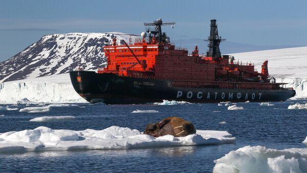 Un rompehielos ruso en el Ártico - Sputnik Mundo