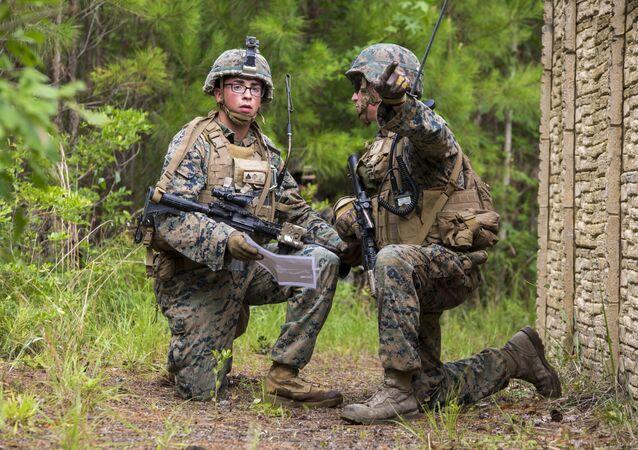Militares estadounidenses durante unos ejercicios (imagen ilustrativa)