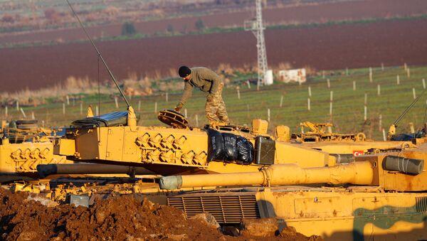 Militares turcos en Afrín - Sputnik Mundo
