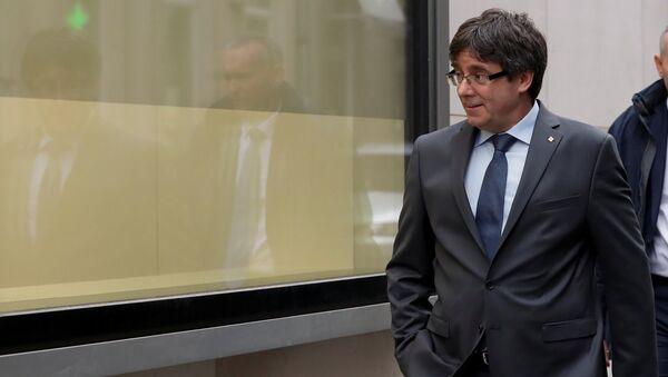 Carles Puigdemont, el expresidente catalán y líder independentista - Sputnik Mundo