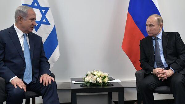 El primer ministro de Israel, Benjamin Netanyahu y presidente de Rusia, Vladímir Putin (archivo) - Sputnik Mundo