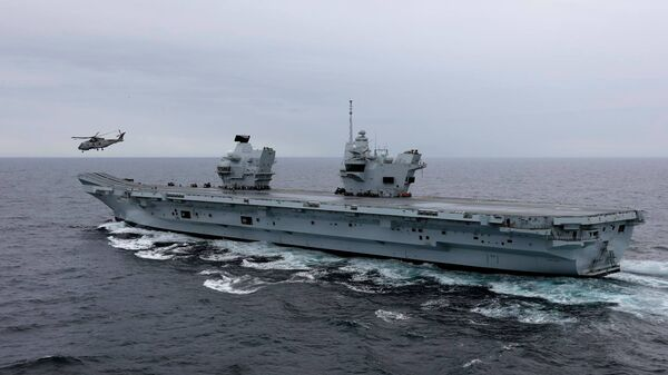 El portaviones británico Queen Elizabeth - Sputnik Mundo