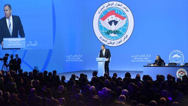 Serguéi Lavrov, canciller de Rusia, interviene en el Congreso del Diálogo Sirio en Sochi - Sputnik Mundo