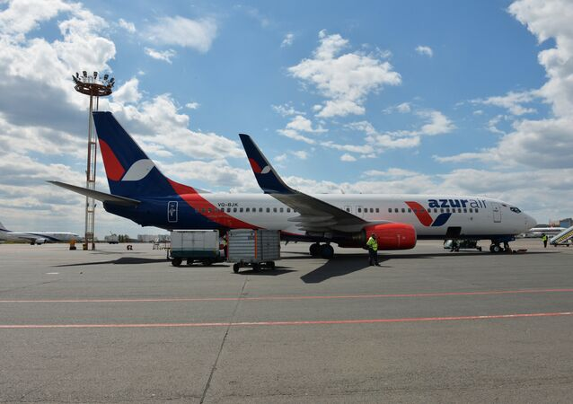Un avión de la compañía aérea Azur Air
