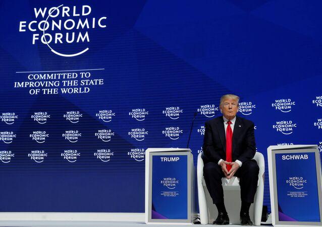 El presidente de Estados Unidos, Donald Trump, asiste a la reunión anual del Foro Económico Mundial en Davos