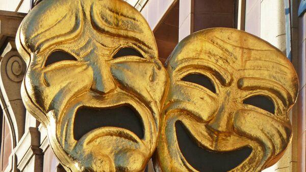 Las máscaras de la tragedia y la comedia, el símbolo del teatro - Sputnik Mundo