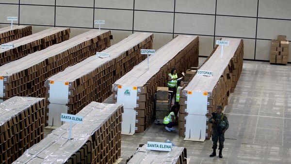 Preparaciones para el referéndum del 4 de febrero en Ecuador - Sputnik Mundo