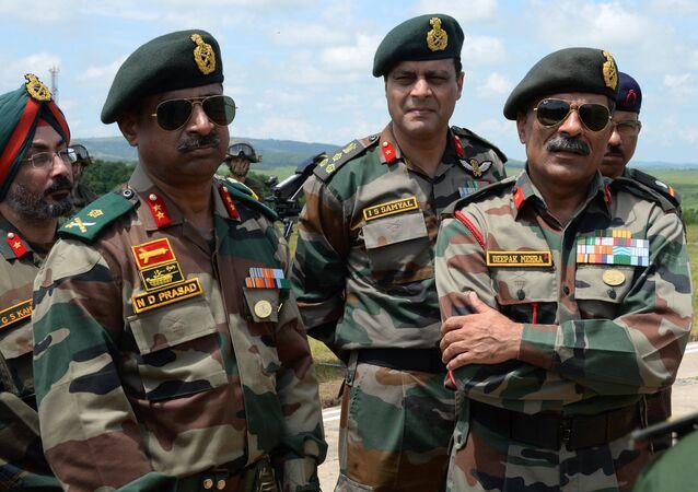 Militares indios, foto de archivo