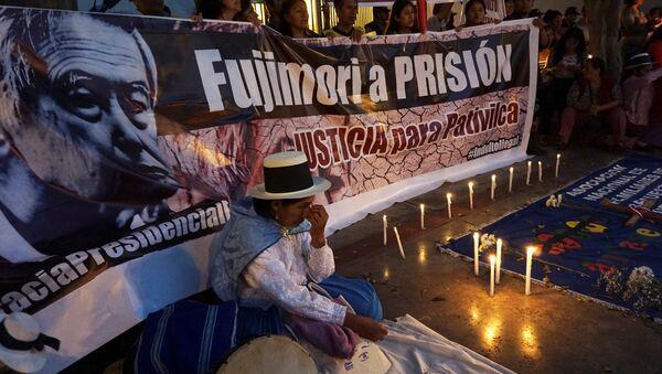 Protestas contra indulto al expresidente peruano Alberto Fujimori - Sputnik Mundo