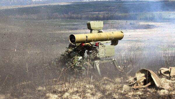 Un sistema de misiles antitanque (imagen referencial) - Sputnik Mundo