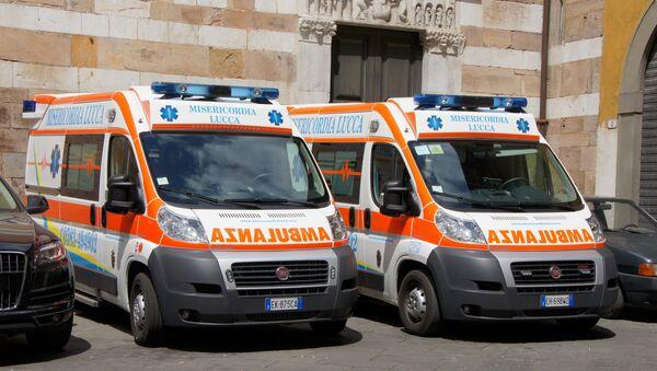 Ambulancia italiana (imagen referencial) - Sputnik Mundo