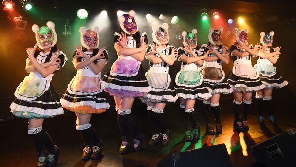 El grupo de pop femenino japonés Cryptocurrency girls - Sputnik Mundo
