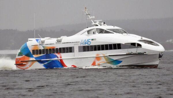 El barco de pasajeros A145 del astillero de Zelenodolsk, Tartaristán (Rusia) - Sputnik Mundo