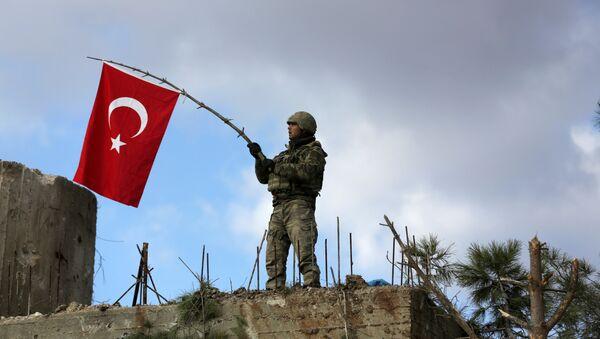 Soldado turco en Afrín - Sputnik Mundo