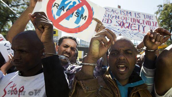 Protesta de los refugiados africanos en Israel - Sputnik Mundo
