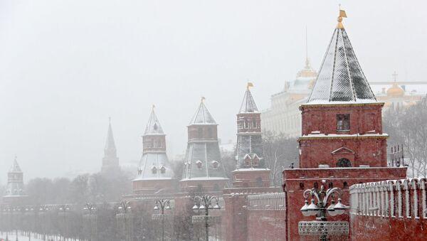 Una nevada en Moscú, Rusia - Sputnik Mundo