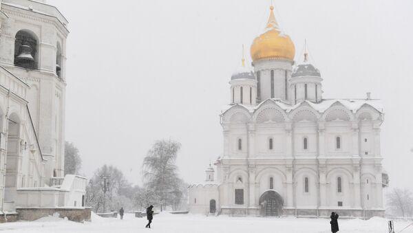 La nevada en Moscú - Sputnik Mundo