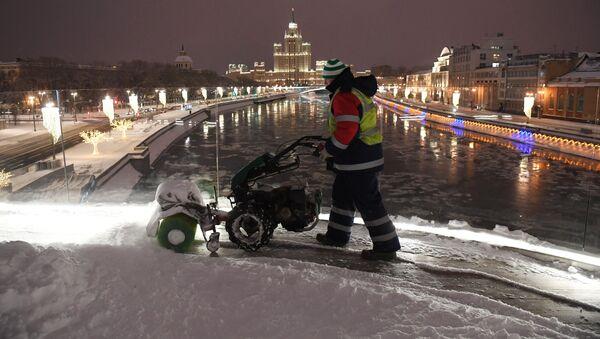 Fuerte nevada en Moscú - Sputnik Mundo