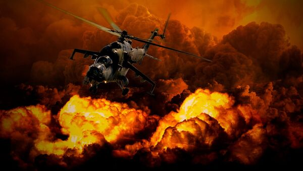 Un helicóptero (imagen ilustrativa) - Sputnik Mundo