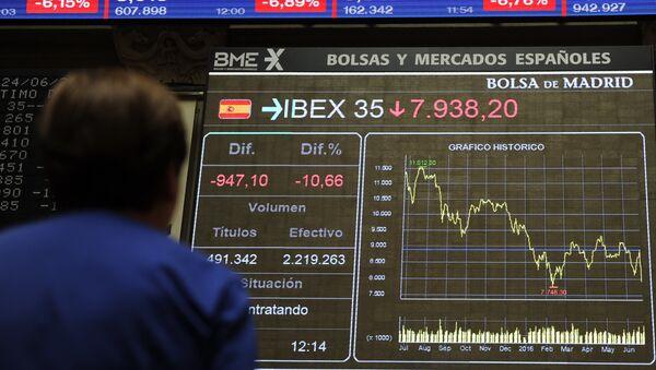 La Bolsa española, el IBEX 35 - Sputnik Mundo