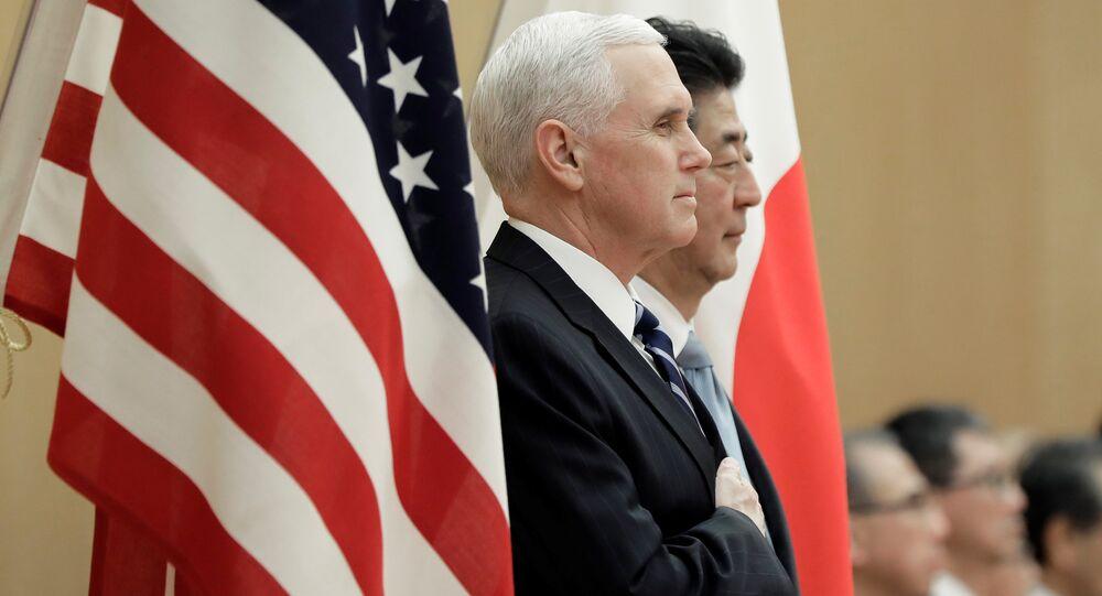 El vicepresidente de EEUU, Mike Pence, y el primer ministro de Japón, Shinzo Abe