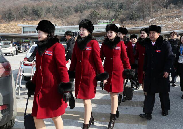 El desembarco de auténticas bellezas norcoreanas en los JJOO de invierno de Pyeongchang