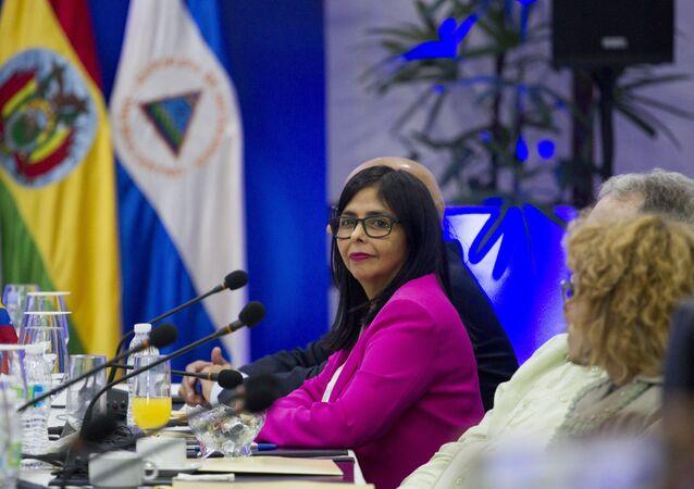 Delcy Rodríguez, presidenta de la oficialista Asamblea Nacional Constituyente de Venezuela