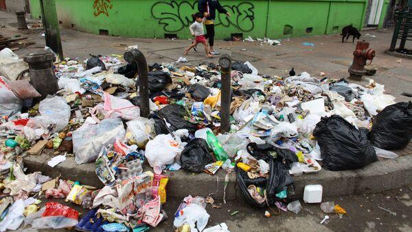 Basura en las calles de Bogotá - Sputnik Mundo