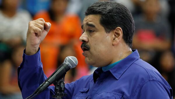 Venezuela's President Nicolas Maduro speaks during an event with supporters of Somos Venezuela - Sputnik Mundo