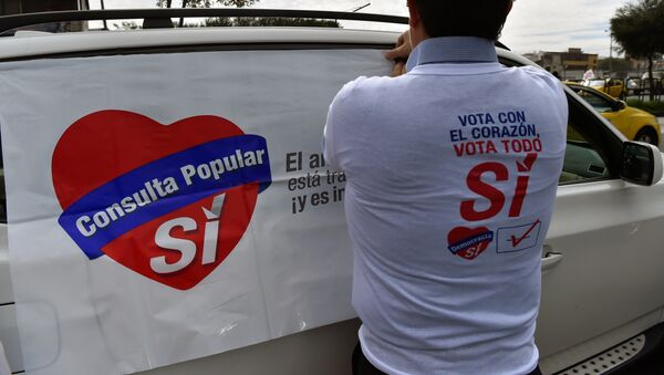 Un partidario del ´Sí´ en Ecuador (imagen referencial) - Sputnik Mundo