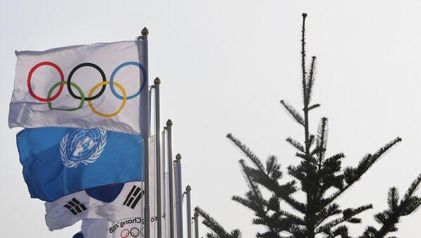 Bandera de los JJOO (imagen referencial) - Sputnik Mundo